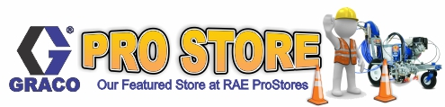 Our featured store here at RaeProStores.com is the Graco ProStore - which provides professional users of the most popular fluid and paint handling equipment a one-stop-shop for all parts and equipment. Whether you are looking for spray guns for industrial finishing, line stripers for road and pavement marking, pumps for fluid handling, sprayers for household or architectural finishing, etc. - The Graco ProStore is your answer!