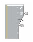 MUTCD - Figure 9C-4 - Example of Bicycle Lane Treatment at Right Turn Only