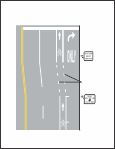 MUTCD - Figure 9C-5 - Example of Bicycle Lane Treatment at Parking Lane into a Right Turn Only Lane