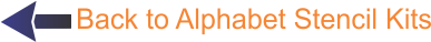 Back to Alphabet Stencil Kits
