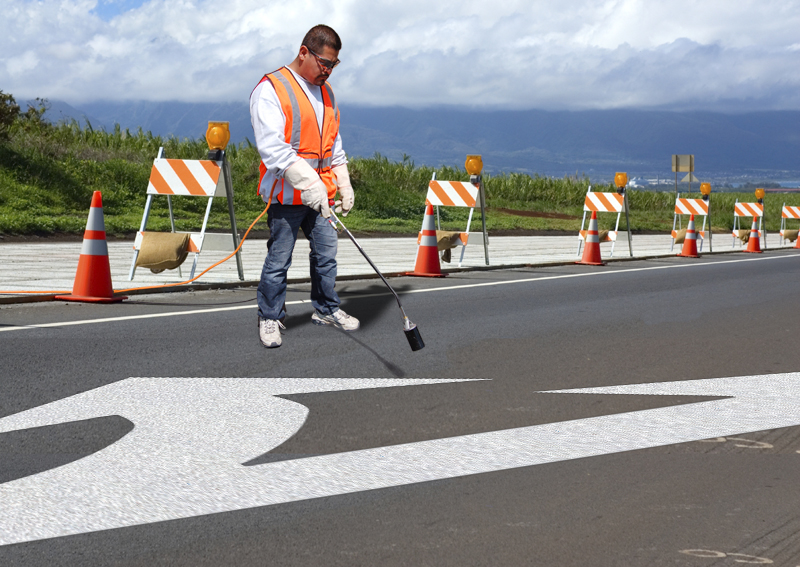 PR-TH-3527 - Combo Arrow Standard Left - Preformed Thermoplastic Item - MUTCD/FHWA