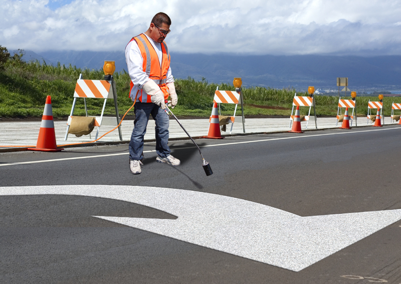 PR-TH-3532 - Turn Arrow Elongated Right - Preformed Thermoplastic Item - MUTCD/FHWA