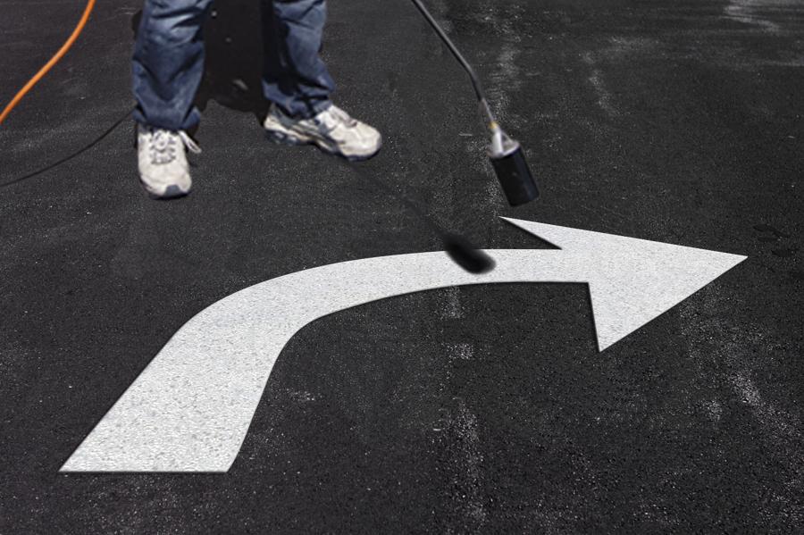 PR-TH-3523 - Turn Arrow Right - Preformed Thermoplastic Item - MUTCD/FHWA