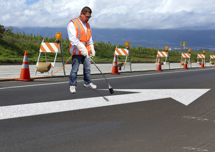 PR-TH-3524 - Straight Arrow - Preformed Thermoplastic Item - MUTCD/FHWA