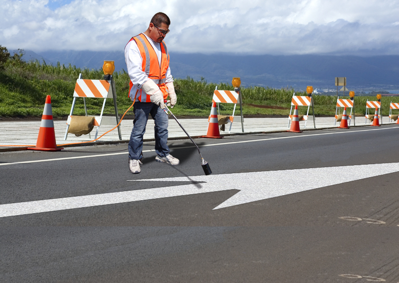 PR-TH-3559 - Straight Arrow Elongated - Preformed Thermoplastic Item - MUTCD/FHWA