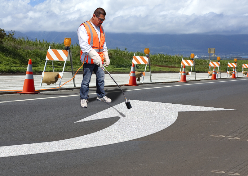 PR-TH-3531 - Turn Arrow Elongated Left - Preformed Thermoplastic Item - MUTCD/FHWA