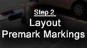 Step 2 - Preformed Thermoplastic Application Process -  Layout/Pre-mark Markings