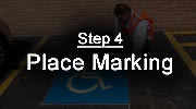 Step 4 - Preformed Thermoplastic Application Process - Place Markings
