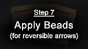 Step 7 - Preformed Thermoplastic Application Process - Apply Beads (for reversible arrows)