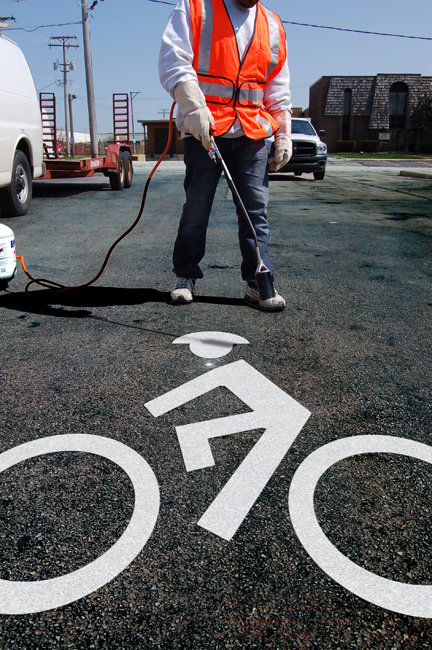 BIKE MAN Bike Lane - Preformed Thermoplastic Symbol