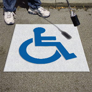 Handicap Kit - Preformed Thermoplastic Symbol - MUTCD/FHWA