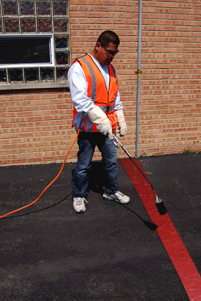 PR-TH-3891 - Red Lines - Preformed Thermoplastic Items - MUTCD/FHWA