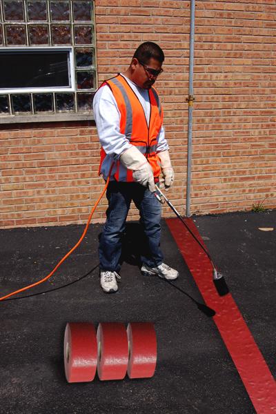 PR-TH-3887  Red Rolls Preformed Thermoplastic Items  MUTCD/FHWA