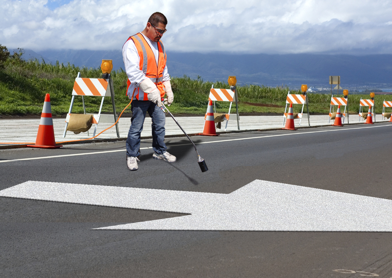 PR-TH-3539 - Lane Drop Arrow Reversible - Right Thermoplastic Item - MUTCD/FHWA