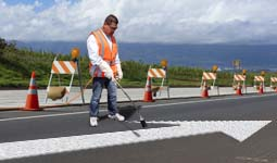 Preformed Thermoplastic Lanes and Arrows