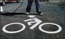 Preformed Thermoplastic Bike Symbol