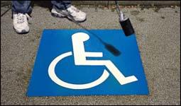 Preformed Thermoplastic Handicap Symbol